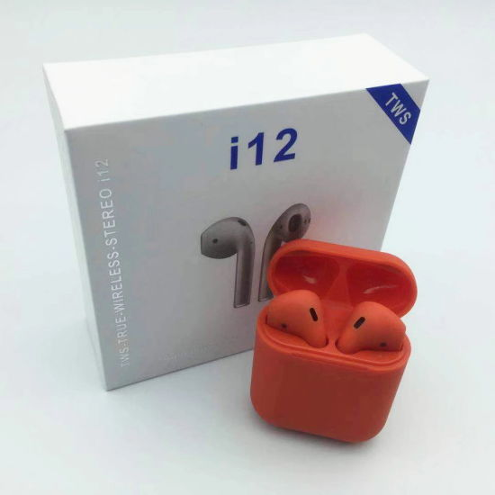 Wireless Bluetooth Earphone Wireless Earbuds Mini Bluetooth Stereo Headset Sports Mobile Earphone with Charging Box Auto Connect Bluetooth Tws Double Call I12