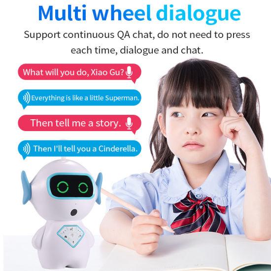 Timethinker Kids Smart Early Education Ai Robot WiFi Control TF Companion  Learning Robot Voice Recognize Imitation Story Teller