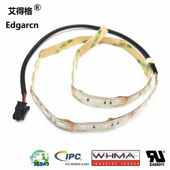 Micro Fit 3.0 to 12V Waterproof RGB Cl-5050RGB60 SMD LED Flex Tape Strip Light Cable pictures & photos