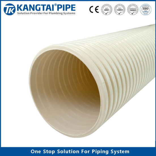 Sn4 Sn8 Dual Wall Corrugated UPVC Drainage Pipe Fittings Bellow Tube