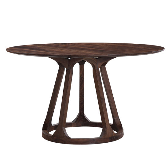 Top Quality Round Wood Kitchen Dining Table Set for 4 Person