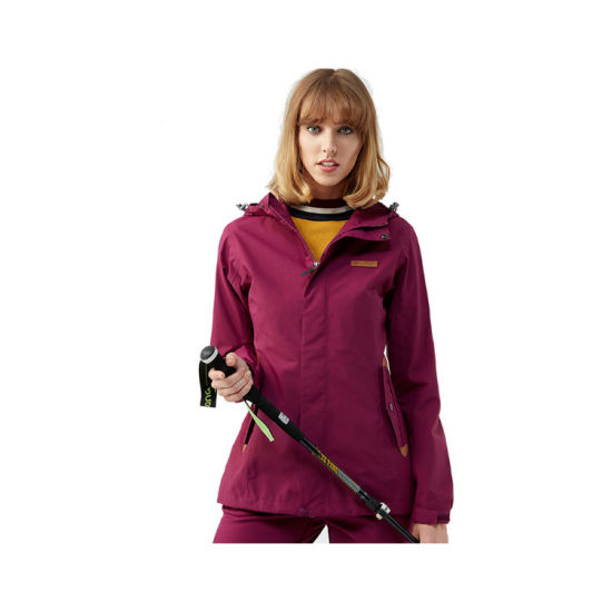 Tectop Outdoor Waterproof Warm 3 in 1 Parka for Woman pictures & photos