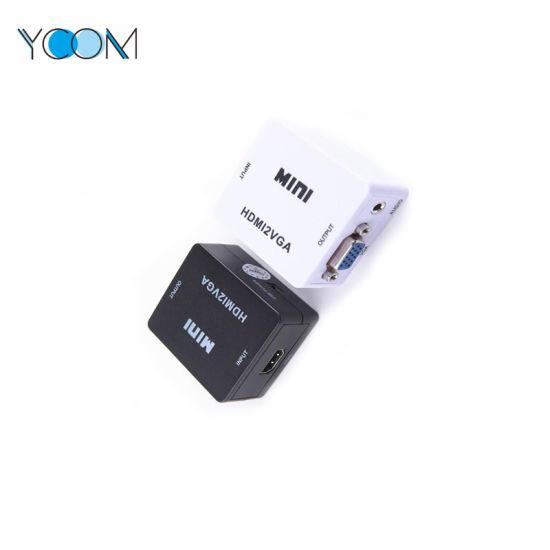 YCOM Mini HDMI 2AV VGA to HDMI Converter
