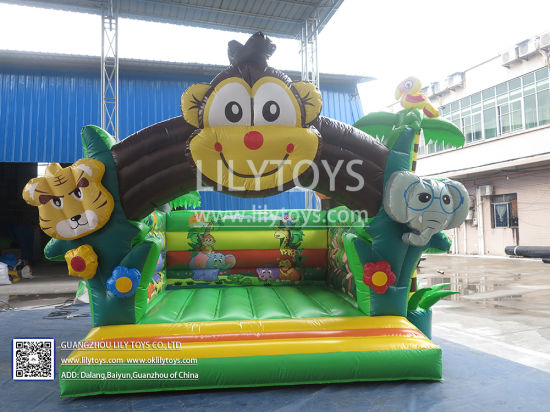 2019 Cheap Inflatable Bouncers Little Monkey Inflatable Bouncer Indoor for Kids pictures & photos