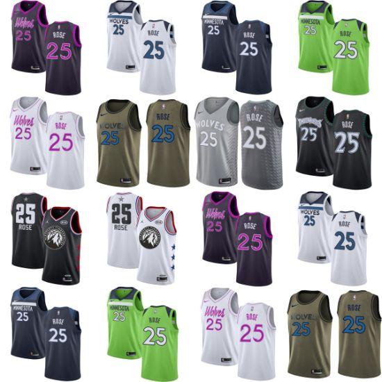 promo code 6bab6 96e63 Wholesale 2019 Mens Kids 25 Derrick Rose Swingman Basketball ...