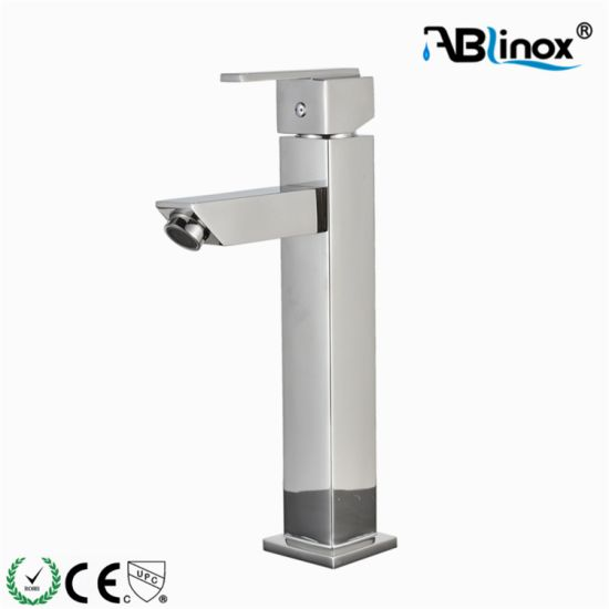 Square Shape Stainless Steel Bathroom Faucet Mixer Basin Faucet