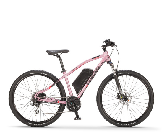 27.5'' Aluminum 36V 250W Lithium Pink Mountain Electric Bike with Down Tube Battery