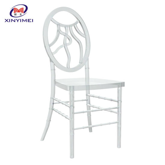 New Product Outdoor High Transparency Used Crystal Banquet Wedding Chair