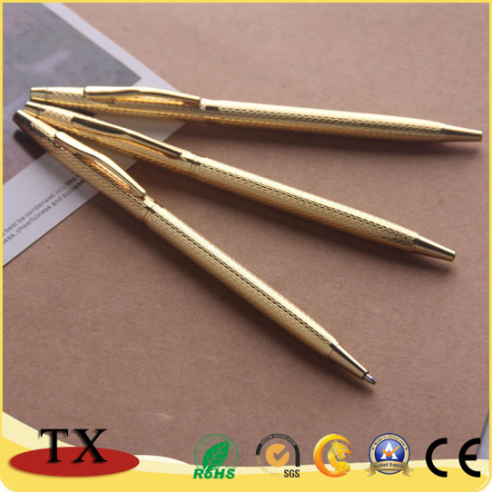 Golden Luxury Office Supply Bussiness Stylus Ballpoint Pen pictures & photos