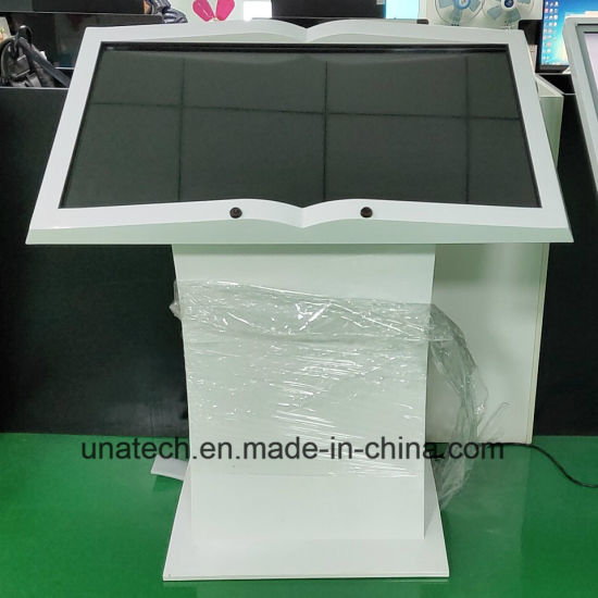 Book Design LED Signage Advertising Digital Display Android Media Player Commercial Kiosk Monitor LCD Touch Screen