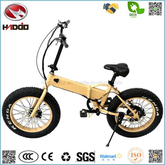 High Quality Wholesale 350W Folding Electric Bike Cheap Mini Fat Tire Foldable E-Bicycle