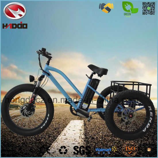 Aluminum Alloy 500W Fat Tire Electric Tricycle