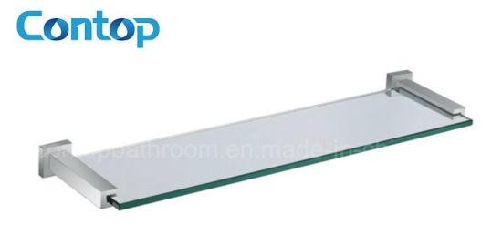 China Bathroom Accessories Wall Mounted Glass Shelf - China Glass ...