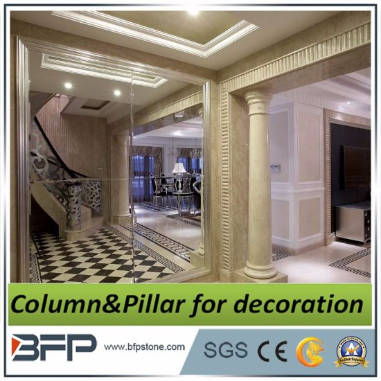 marble stone carving white roman column for home decoration