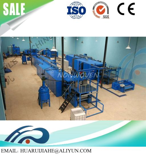 2018 Best China Supplier Cleaning Pad Scouring Pad Gluing Forming Machine/ Heating Scouring Pad Production Line for Washing Dishes