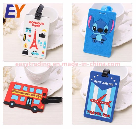 China Direct Manufacturer Produce Custom Pvc Luggage Tag For