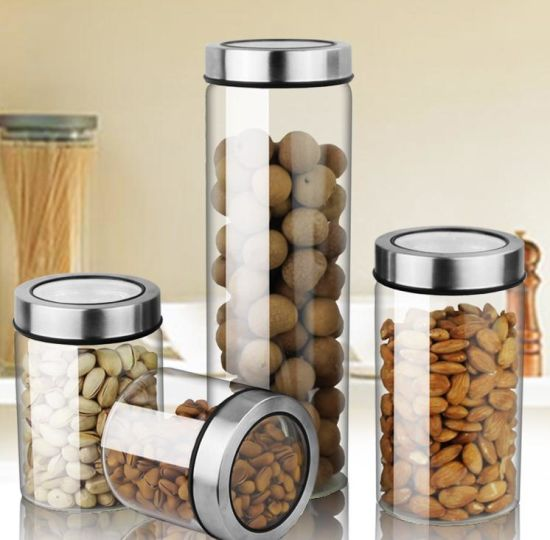 Heat-Resistant Sealed Jar Household Glass Container Bottle