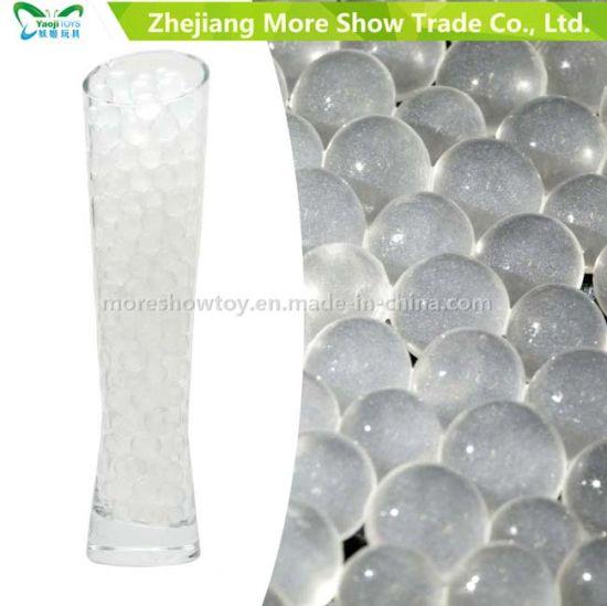 China New Glitter Crystal Water Storing Gel Beads Vase Filler For