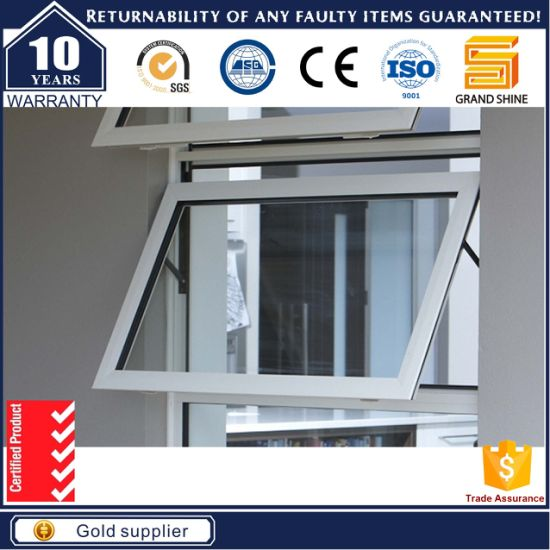 Aluminum Outward Awning Window with Double Tempered Glass pictures & photos