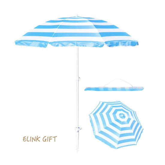 6 Ribs 8 Ribs Customized Logo Sunshade Umbrella Beach Umbrella Parts with  Carry Bag and Sand Anchor