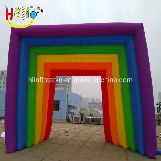Attractive Wedding Party Decoration Inflatable Rainbow Arch