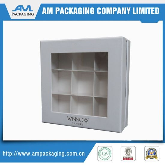 Clear Lid Paper Box Gift Box Design Packaging Box for Chocolate pictures & photos