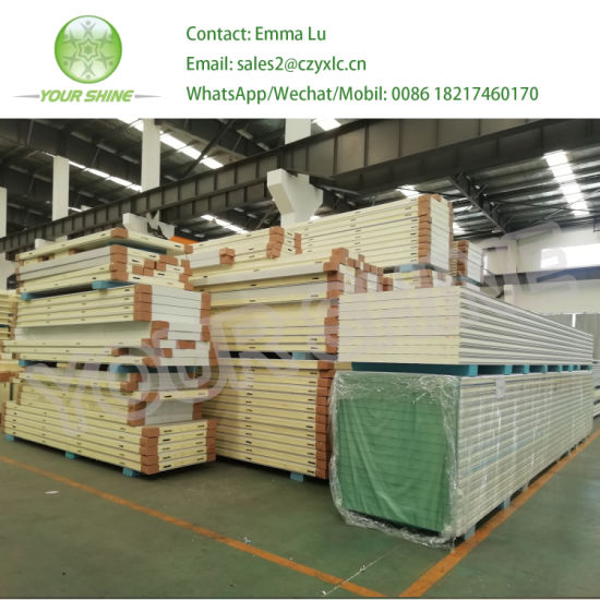 Construction Material PU/PIR/Rockwool/Glasswool/EPS Sandwich Panel for Steel Structure Wall and Roofing