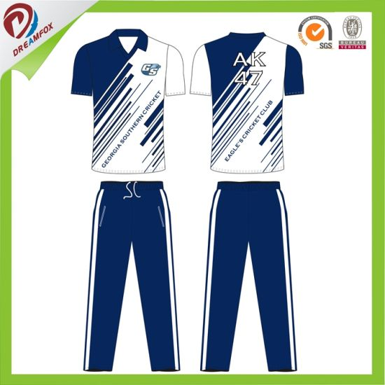 Cricket T Shirt Design | China New Design Red Cricket Jerseys Customized Sport T Shirts