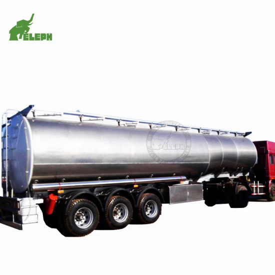 Tri-Axle 60m3 Fuel Transport Semi Tank Trailer with Material Stainless Steel