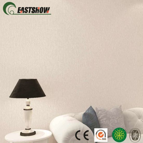 China Hot Sale Plain Color Wallpaper Designs For Home China Wallpaper Wallcovering