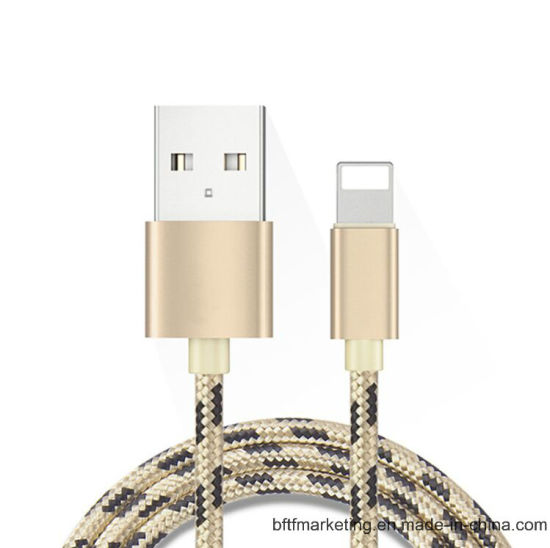 Lightning USB Cable Nylon Braided for iPhone5/6/7/7plus/iPad pictures & photos