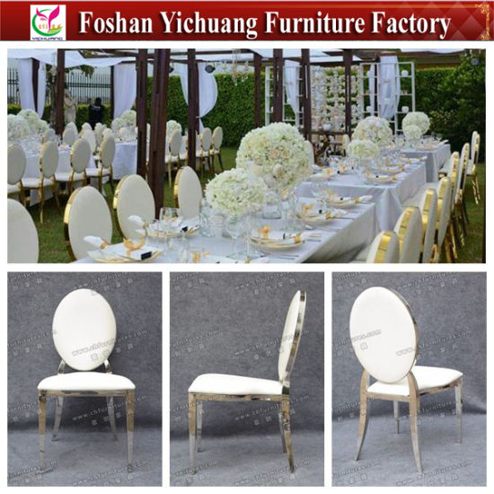 Chinese Factory New Design Stainless Steel Luxury Wedding Chairs Yc Ss53