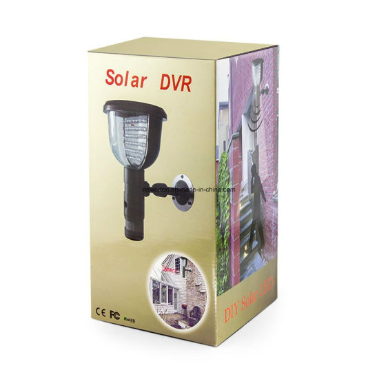 Motion Detecting Home Security Outdoor Garden Light Weatherproof Solar Power 39 IR CCTV DVR Camera Video Recorder pictures & photos