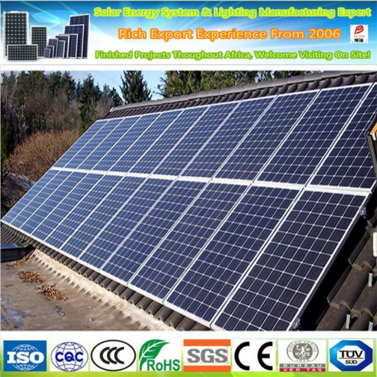 10 Years Warranty Manufacturer 300W 24V Polycrystalline Silicon Solar Panel High Quality Ce RoHS