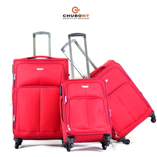 2016 Cheap Four Wheels Expandable Polyester Travel Trolley Case pictures & photos