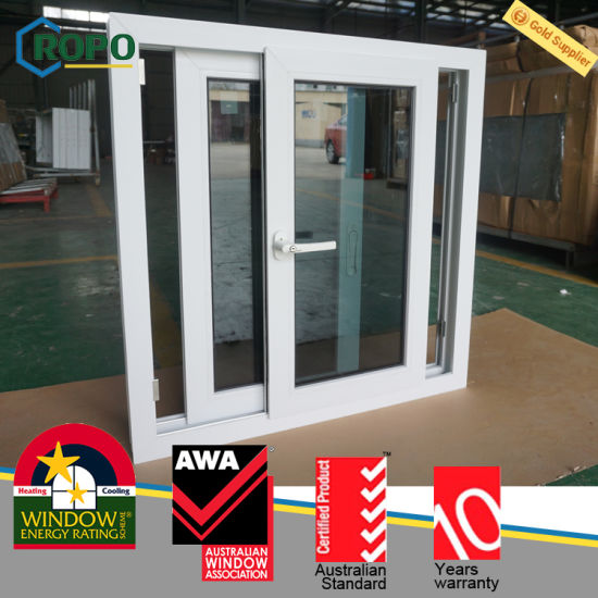 UPVC Impact Sliding Window With Dark Gray Tinted Glass Price