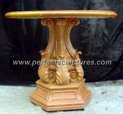 Antique Stone Marble Garden Table for Garden Decoration (QTB020)