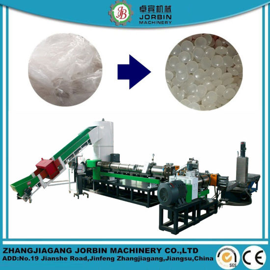 Waste Plastic HDPE LDPE PP Jumbo Woven Bags Pet Film Recycling Pelletizing Extruder Machine with Mother and Baby Combination/Two Stage Extrusion Machine
