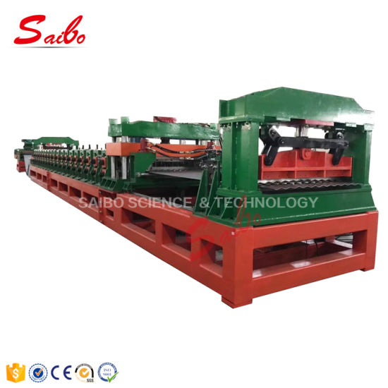 Galvanized Steel Grain Silo Making Roll Forming Making Machine with Gear Box Driving for Sale