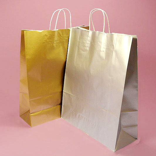Metallic Kraft Paper Bag &Shopping Bag with Paper Handle pictures & photos