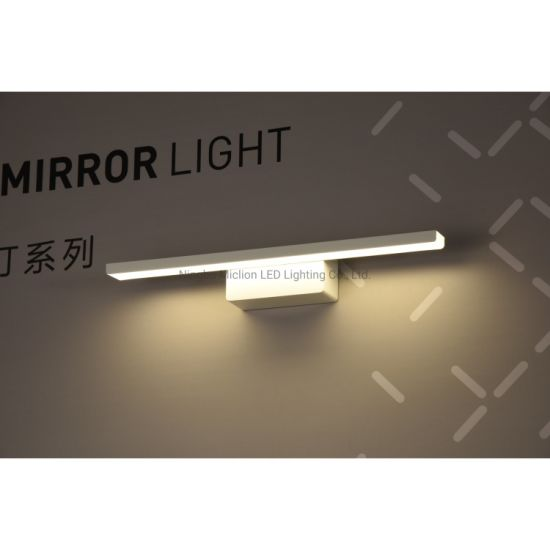 Simple Aluminium and PC Material 12W LED Mirror Light Wall Mounted for Bathroom