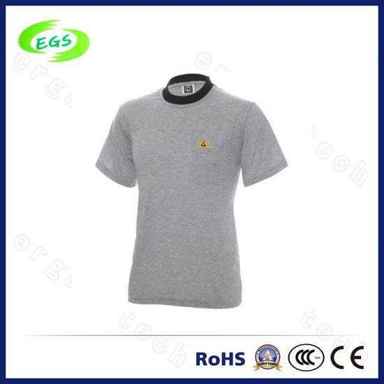 Hight Qualtiy 100% Cotton ESD Tshirt Plain Blank From China