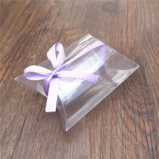 OEM High Quality Clear Pet Plastic Pillow Box for Gift Packing