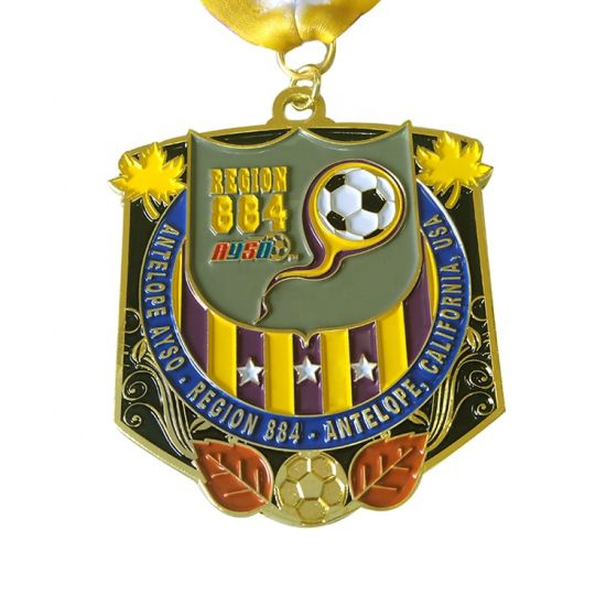 Sports Competition Metal Football Medal Custom