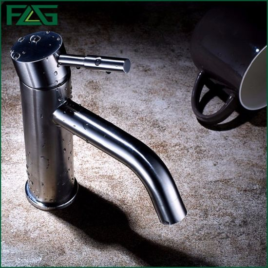 Flg 304 Stainless Steel Brushed Nickle Basin Taps Hot Cold
