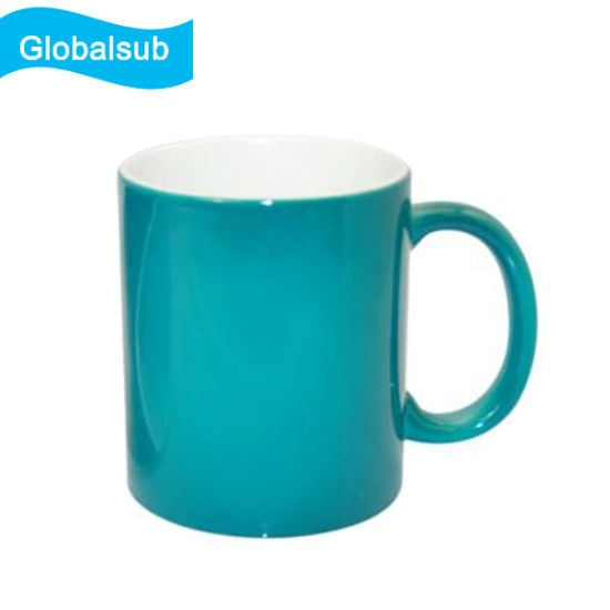 Low Cost Cheap Plain Ceramic Magic Coffee Mugs for Sublimation