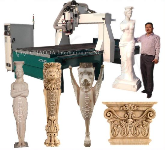 5 Axis 3D CNC Router Machine for Foam Wood 3D Sculptures Statues Mould Making