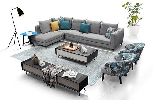 Modern Home Upholstered Soft Furniture Corner Sofa Bed with Storage