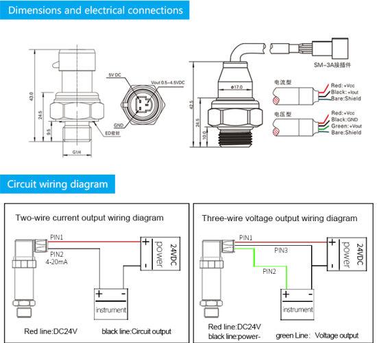 fst8001100 420ma low cost refrigerator hydraulic water pressure transducer