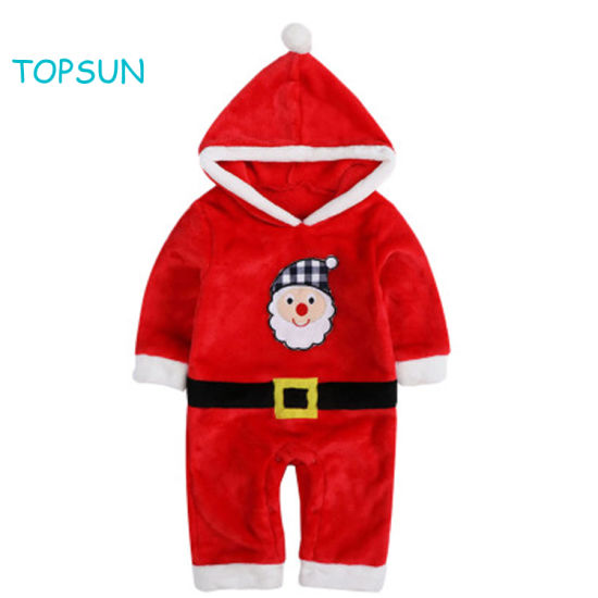 Unisex Children Baby 1 Piece Apparel Warm Christmas Long Sleeve Clothes
